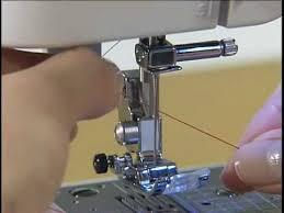 Заправка нити - уроки шитья на швейной машинке - YouTube