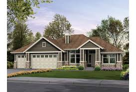 Eplans Craftsman House Plan   Classic Rambler Perfect for Family    Front