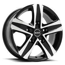 <b>MAK STONE5</b>[Gloss Black w/Machined Face] | BG World Wheels