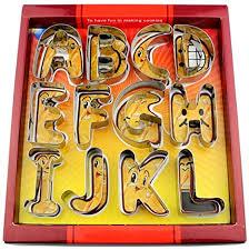 N/P Large 26 English Alphabet Letter Cookie Cutter ... - Amazon.com