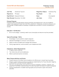 substitute teacher job description for resume com substitute teacher job description for resume to get ideas how to make impressive resume 4