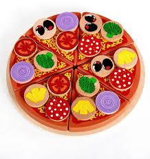 Pizza <b>Wooden</b> Toys Food Cooking <b>Simulation</b> Tableware <b>Children</b> ...