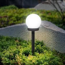 <b>3pcs 5W LED</b> Solar Round Bulb Lawn Lamps IP65 Waterproof ...