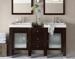 personable design double sink vanity for narrow spaces with poplar black walnut and white marble top bathroom vanity lighting ideas combined