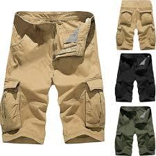 <b>Summer</b> Mid-rise <b>Men's</b> Shorts Loose Casual Multi-pocket <b>Tooling</b> ...