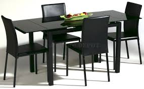 black kitchen dining sets:  brilliant black kitchen table top for dining room furniture round black and black dining room table