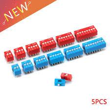 <b>5Pcs</b> Snap Type Switch Module <b>1 2 3 4 5</b> 6 7 8 Bit 2.54mm Position ...