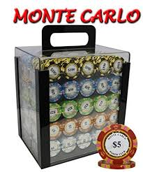 <b>1000pcs</b> 14g Monte Carlo Poker Club Poker Chips <b>Set</b> with <b>Acrylic</b> ...