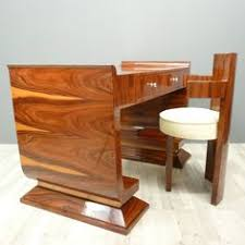 art deco desk rosewood inlaid with two drawers with a length of cm art deco office furniture