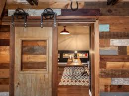 rustic home office with sliding barn door build rustic office