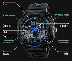 Lixada <b>SKMEI Quartz Digital Electronic Men</b> Watch Fashion Casual ...