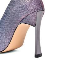 <b>New Fashion Women</b> Metallic High Heel <b>Pointy</b> Toe Wedding ...