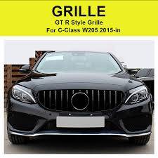 For Mercedes C Class W205 C205 Sport Coupe C63 Front <b>Grille</b> ...