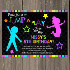 jump invitation neon bounce house invitation trampoline neon bounce house invitation trampoline birthday invite neon party glow 128270zoom