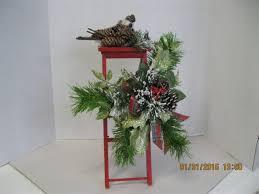 <b>Christmas red ladder</b> arangement or centerpiece. OOAK | Adornos ...