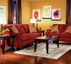 yellow living room decor interior