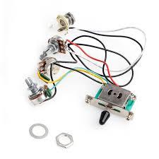 <b>1Pc</b> 5 Way Switch 250k Pots Knobs <b>Wiring</b> Harness Pickup Guitar ...