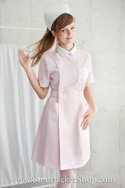 Pink Nurse Uniform - <b>High Quality</b>, <b>100</b>% <b>Cotton</b> / With Nurse Cap ...