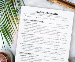 resume templates organized