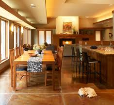 Flooring For Dining Room Eat Stained Concrete Floors Dining Room Modern With Dog Eat In