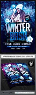 winter bash psd flyer by industrykidz graphicriver winter bash psd flyer clubs parties events