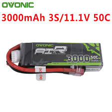 <b>OVONIC 3S 11.1V</b> 3000mAh 50C Lipo Battery with Dean Style T ...