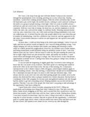 childhood memory essay   theres still time i guess that is the   pages life influence essay