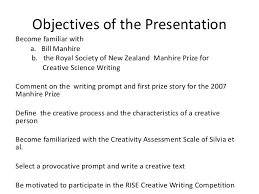 Course Title  Introduction to Creative Writing Course Objectives     Disposition Photo Gallery
