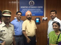 photo gallery inaugration of biometric attendence system at vadodara 1 commissionerate by chief commissioner vadodara zone shri arvind singh