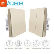 Настенный <b>выключатель Xiaomi Aqara</b>, Золотая версия, умный ...