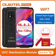 <b>OUKITEL WP7</b> Waterproof Phone 8GB 128GB <b>8000mAh 6.53</b> inch ...