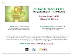 naifa portland northwest oregon financial block party meet and network professionals from our allied organizations attendees will have the chance to swap insight and business cards the long term goal