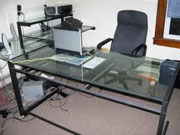glass l shaped office desk. glass l shaped office desk ikea corner gaming for top computer modern designs p