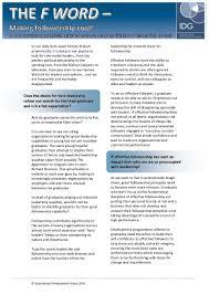 dc followership and effective graduate development handout insp followership and effective graduate development handout insp
