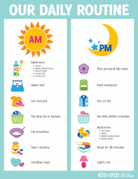kids daily routine chart template kids daily routine chart template tk