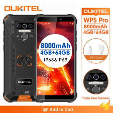 <b>OUKITEL WP5 Pro</b> Waterproof Smartphone IP68 Android 10 <b>4GB</b> ...