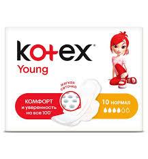 <b>Прокладки Kotex Young Normal</b>, 10 шт, артикул: 9425509 - купить ...