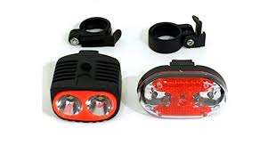<b>5 LED Bike Bicycle</b> Front <b>Head</b> Light Plus Tail light Set Waterproof ...