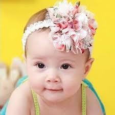 <b>KLV</b> 2017 Broken flower with pink New <b>Baby</b> Flower Headband Girl ...