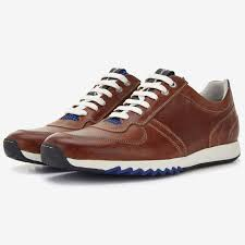 Floris van Bommel cognac leren heren sneaker | Men`s Shoes ...