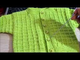 Простая <b>кофточка</b> для малыша спицами. Baby jacket knitting ...