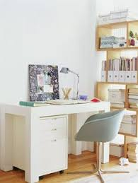 home office dcor light and bright a chunky desk and filing cabinet feel light in bright home office design