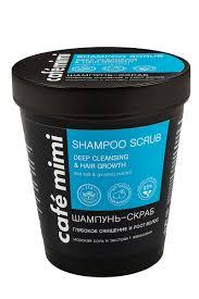 Cafe Mimi <b>Шампунь</b>-<b>Скраб Глубокое</b> очищение и рост волос, 330 г