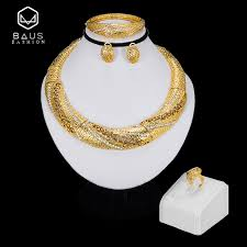 BAUS Exquisite Dubai jewelry sets luxury <b>Golden color</b> indian ...