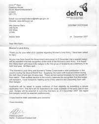 chapter defra response to my letter about recognition for chapter 8 2 defra response to my letter about recognition for land girls