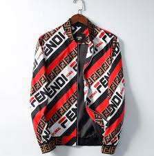 men's and women's original abd ;fendi jacket monogrammed printed ...