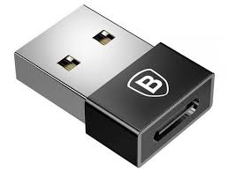<b>Аксессуар</b> USB Male - Type-C Female Adapter Converter Black ...