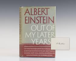 albert einstein signed abebooks