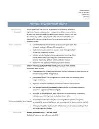 football coach resume samples tips and templates football coach resume