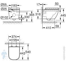 <b>Унитаз Grohe</b> Euro Ceramic 39554000 <b>подвесной</b> (374х445х540 ...